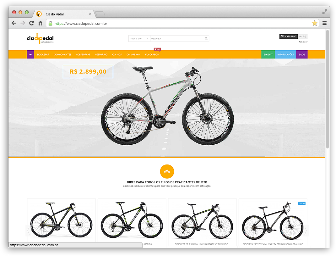 Site Cia do Pedal
